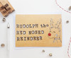 Rudolph Red Nosed Reindeer Christmas Card