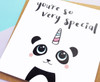 Kawaii Panda Birthday Card