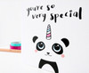 Panda Unicorn Birthday Card