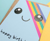Smiley Face Birthday Card Kawaii Rainbow