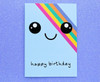 Kawaii Rainbow Smiley Face Card