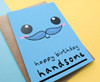 Smiley Face Boyfriend Birthday Card