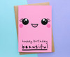 Beautiful Wife Birthday Card Smiley Face