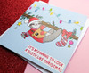 Cute Sloth Card Kawaii Christmas