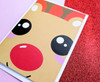 Rudolph Reindeer Kawaii Christmas Card
