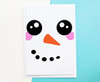 Kawaii Snowman Christmas Card