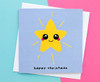 Kawaii Christmas Star Card