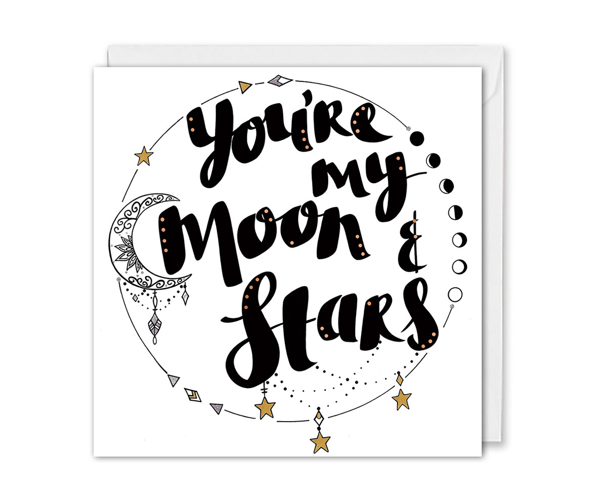 You're My Moon and Stars Anniversary Card