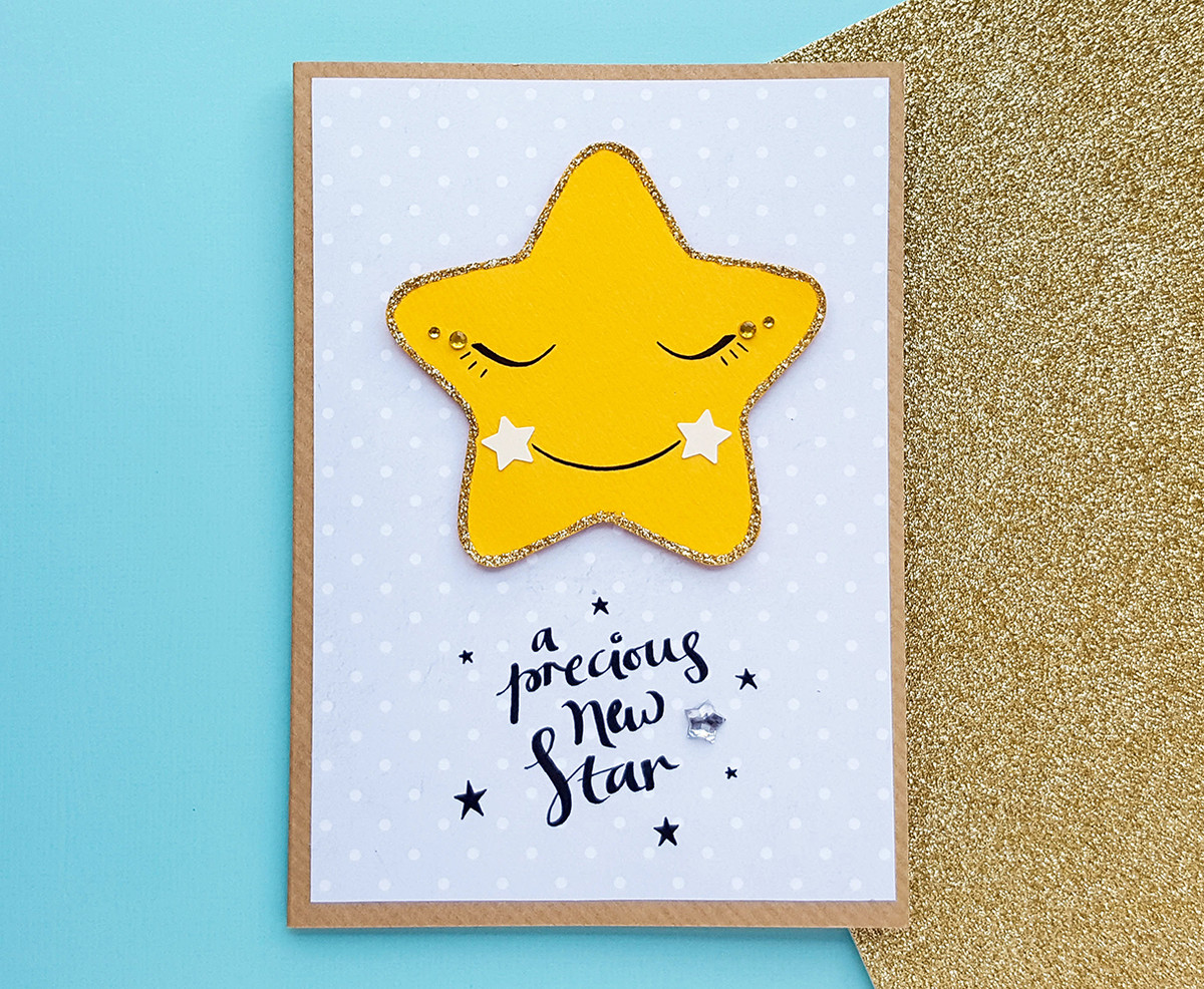 Personalised New Star Baby Card