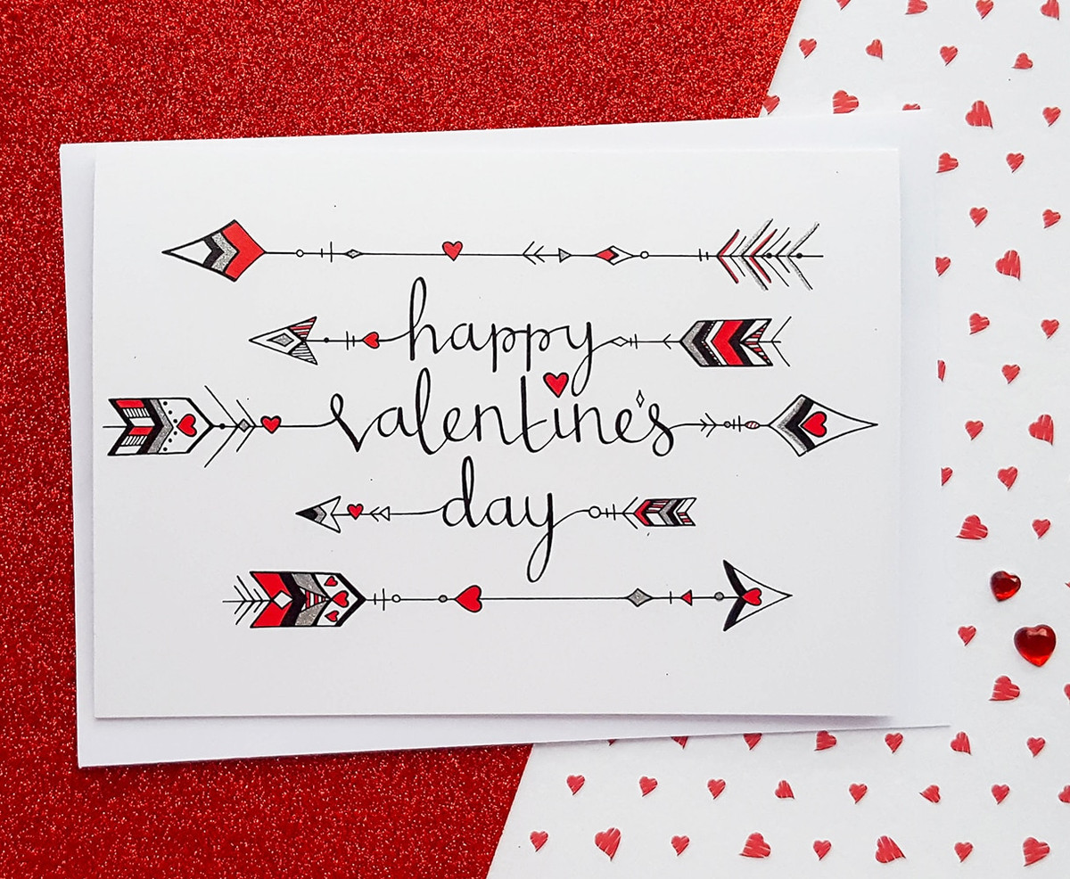 Cupid's Arrows Valentines Card