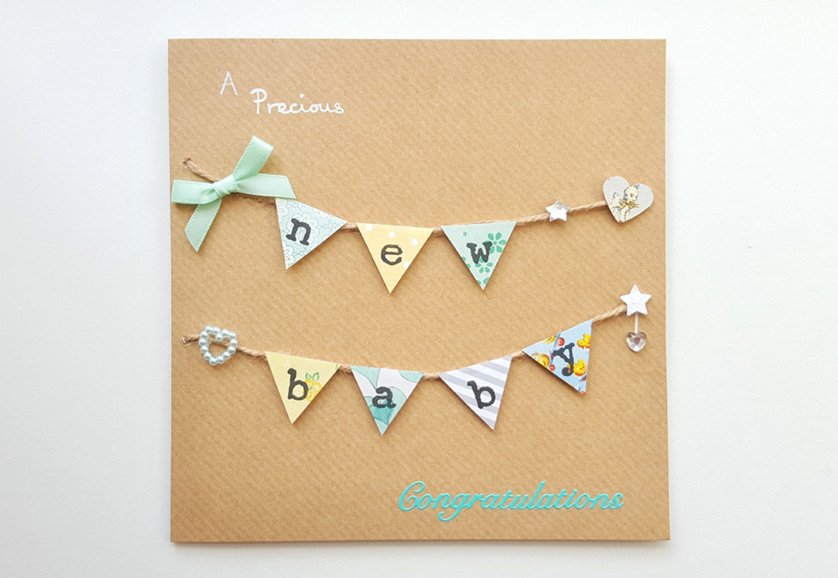 NEW BABY Bunting Card