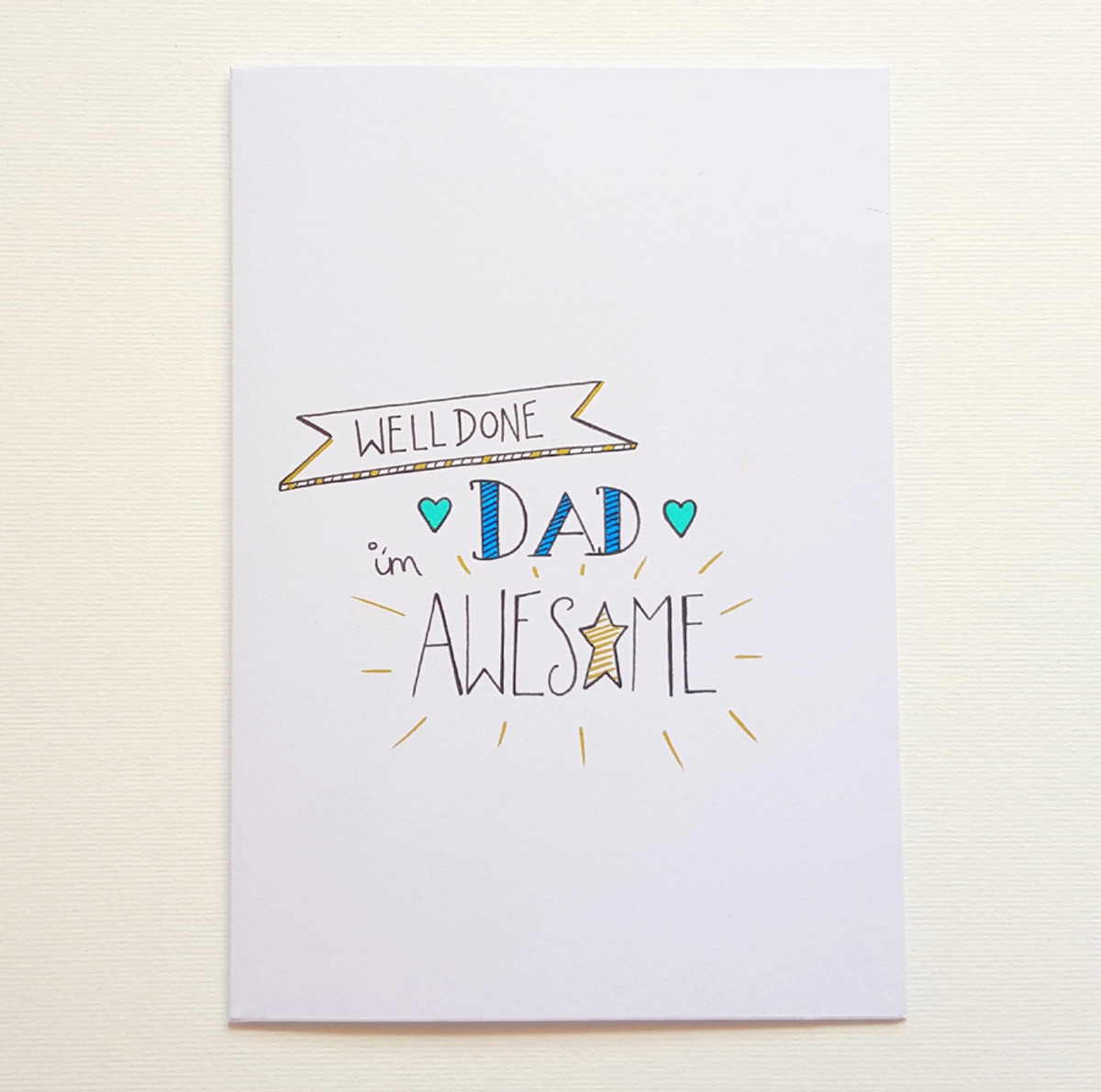 Hand Drawn AWESOME Father's Day Card
