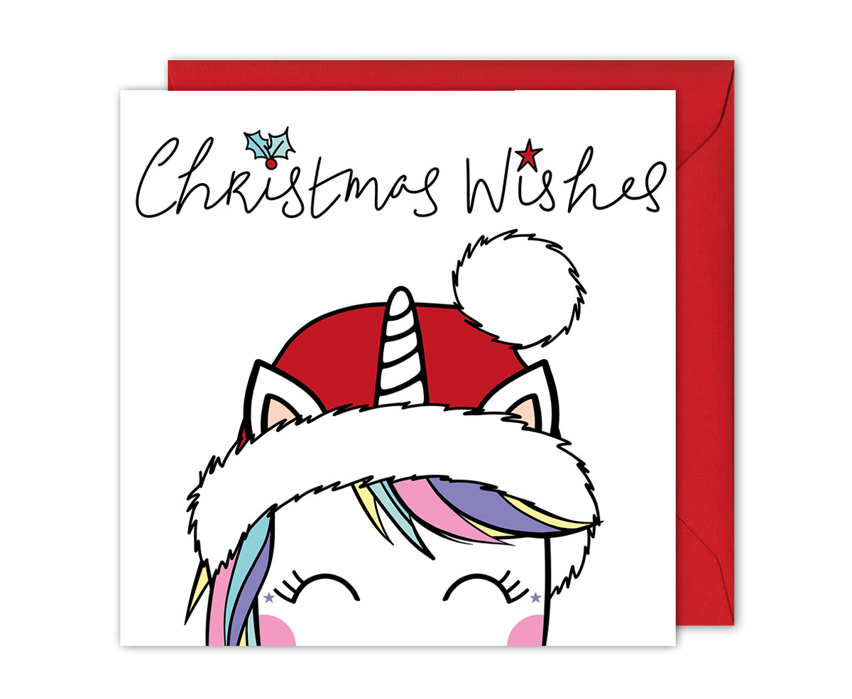 Magical Unicorn Christmas Card