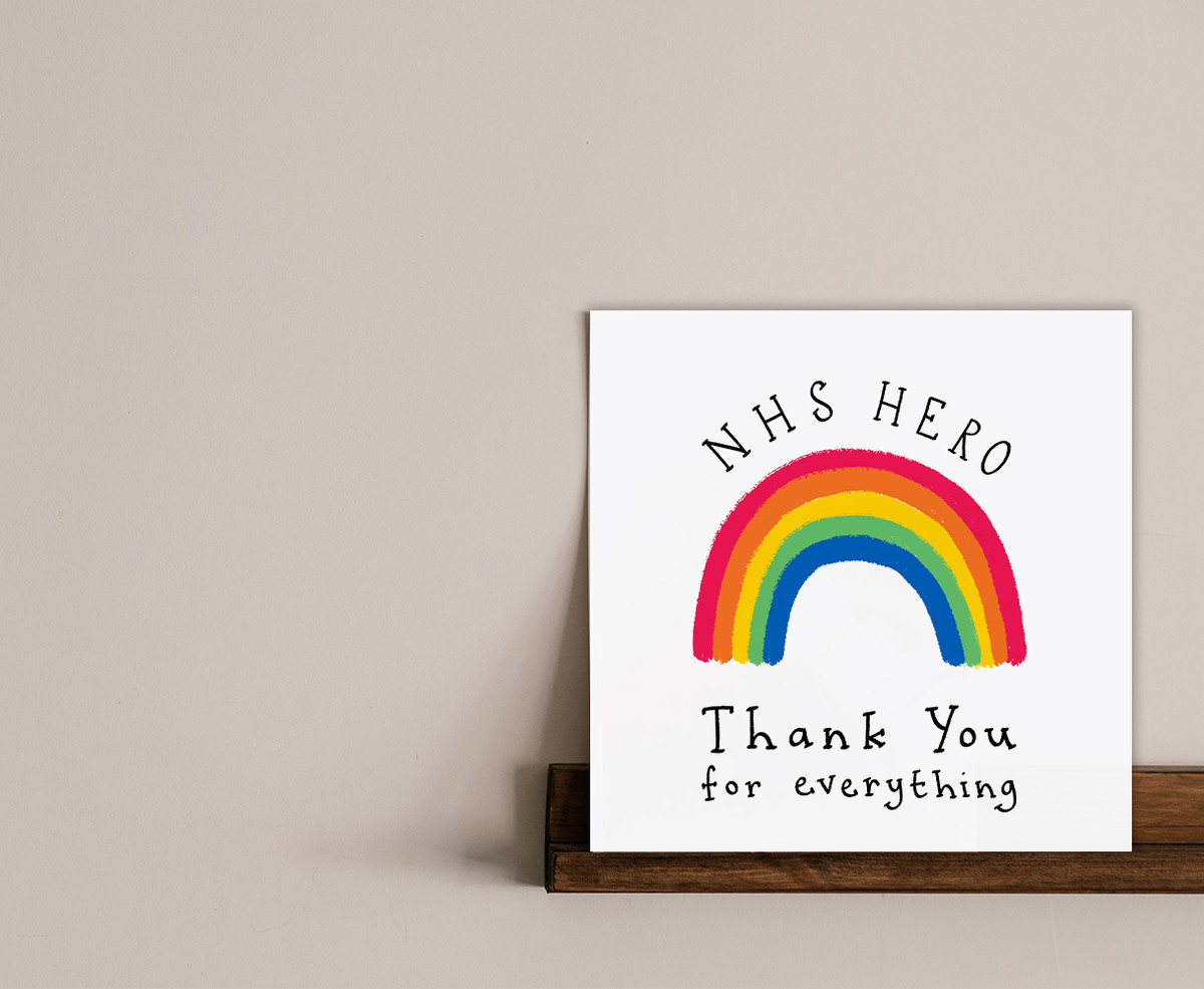 Rainbow NHS Hero Thank You Card