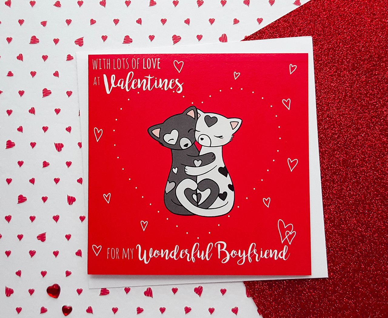 Handmade Cute Cats Valentine S Card For Boyfriend Kio Cards