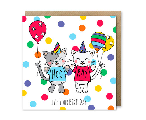Cute Cats Birthday Card