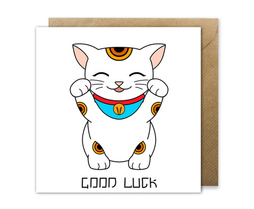 Good Luck Card Maneki Neko