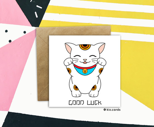 Good Luck Card Lucky Cat
