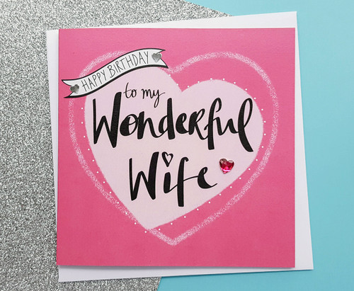 Wife Birthday Card Romantic