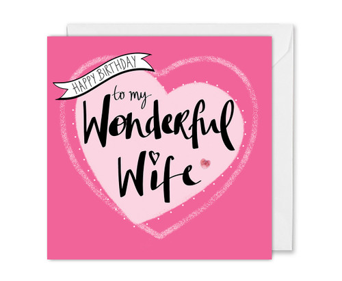 Wonderful Wife Birthday Card
