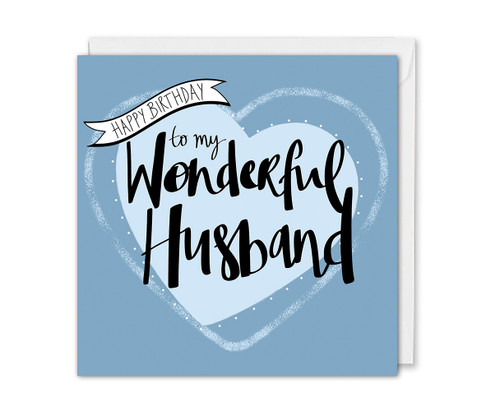 Wonderful Husband Birthday Card