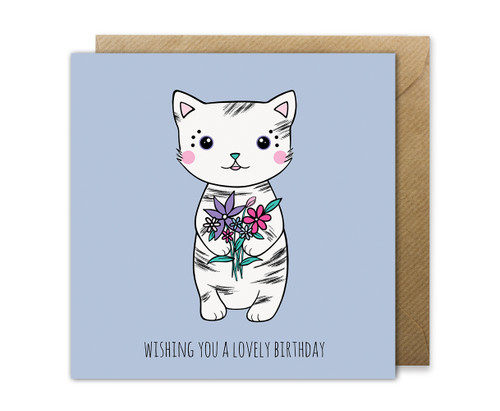 cute cat birthday card