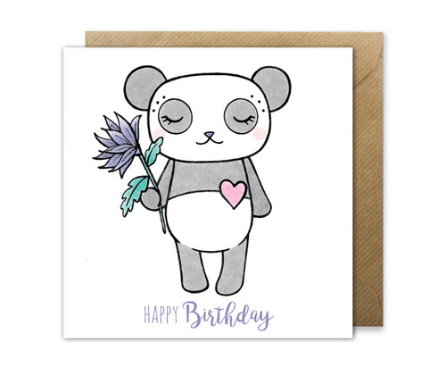 Panda Birthday Card Cute