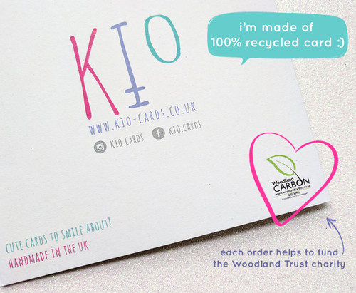Recycled card handmade in UK
