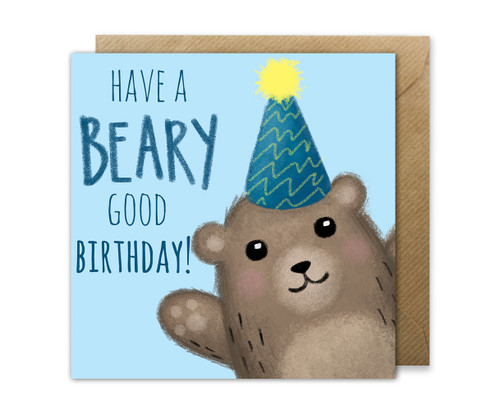 Bear Birthday Card Punny