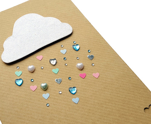 Handmade Anniversary Card Raining Love