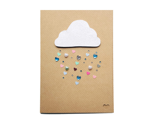 Raining Love Card Handmade Anniversary