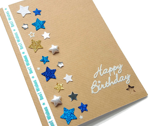 Handmade Birthday Stars Card