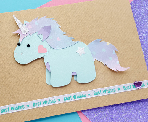 Cute Unicorn Birthday Card handmade