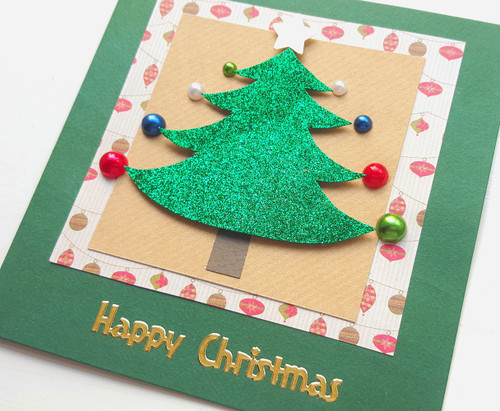 Handmade Merry Little Christmas Tree Card