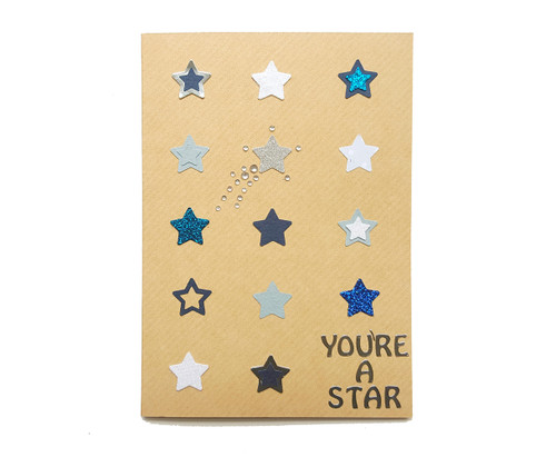 You're A Star Handmade Birthday Card