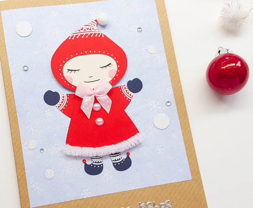 handmade cute christmas card