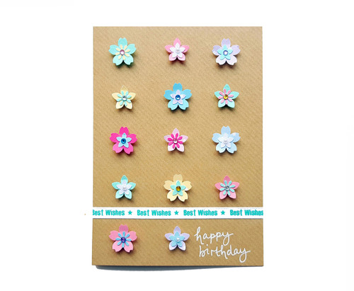 Handmade flowers birthday card