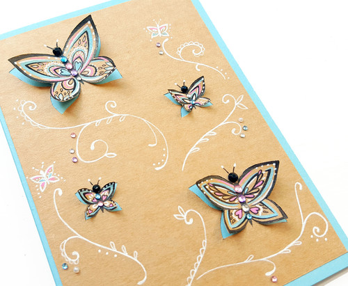 Handmade Birthday Card Butterflies