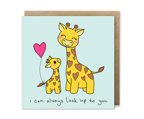 Mothers Day Card Mummy and Baby Giraffe