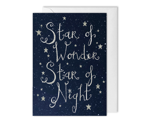 Christmas Greetings Card Star Of Wonder