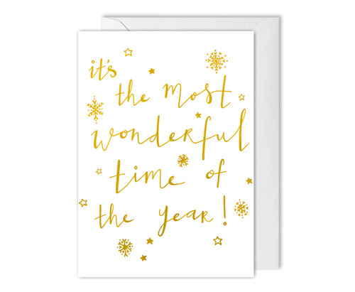 Most Wonderful Time Christmas Carol Card
