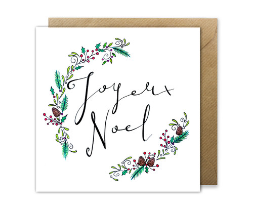 Joyeux Noel Christmas Greetings Card