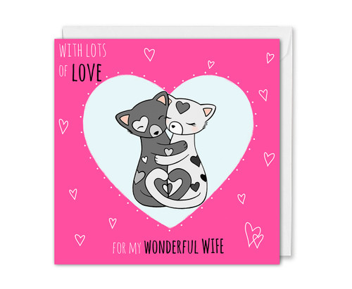 Wife Birthday Card Cute Romantic