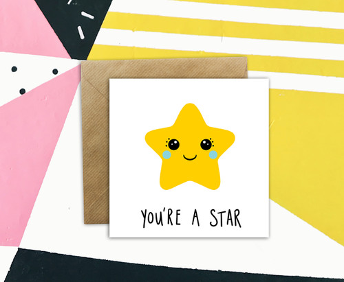 Well Done Card Kawaii Star