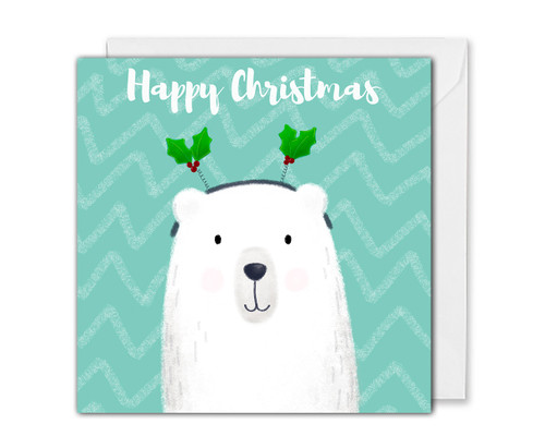Cute Polar Bear Christmas Card