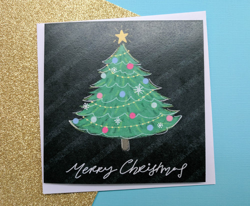 Hand Drawn Christmas Tree Card