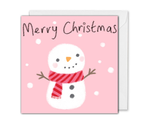 Cute Snowman Christmas Card
