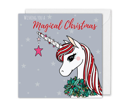 Magical Christmas Unicorn Card