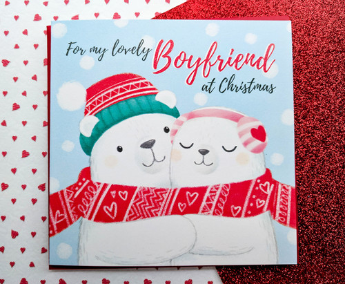 Boyfriend Christmas Card Cute Polar Bears