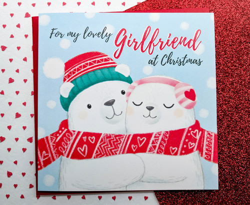 Girlfriend Christmas Card Cute Polar Bears